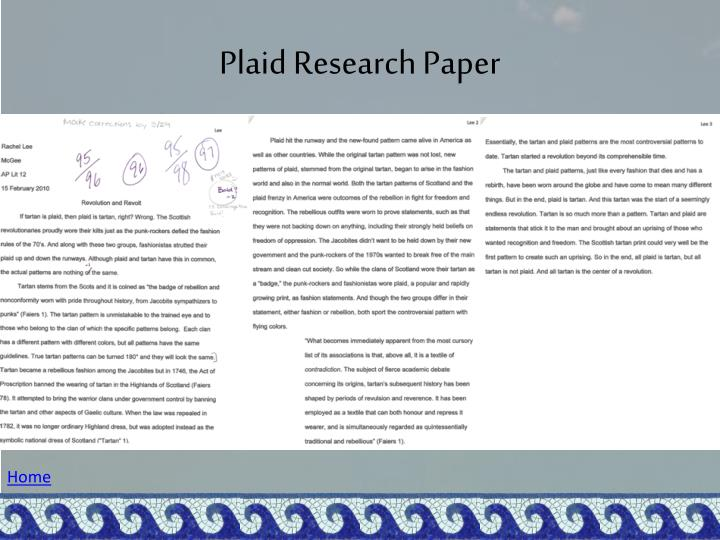 Plaid Research Paper
