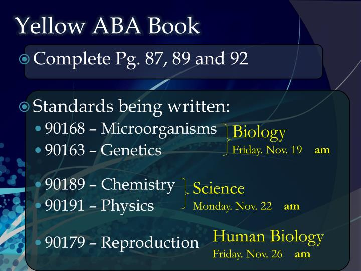 yellow aba book n.