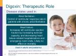 digoxin therapeutic role