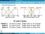 single tank system 3 rules