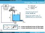 single tank system