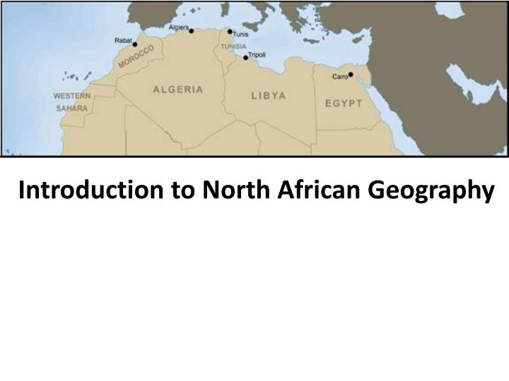 introduction to north african geography n.