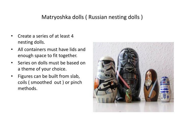 Matryoshka dolls russian nesting dolls