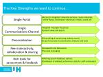 the key strengths we want to continue