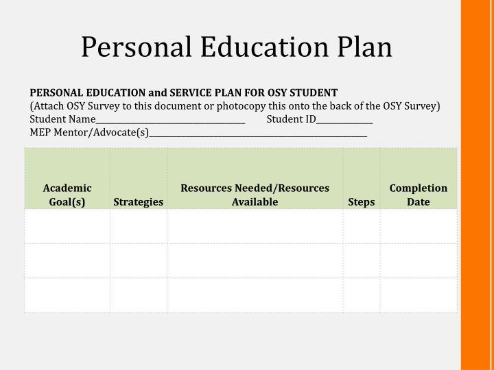 Personal Education Plan