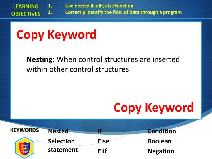 Copy Keyword