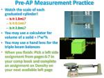 pre ap measurement practice