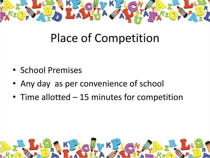 Place of Competition