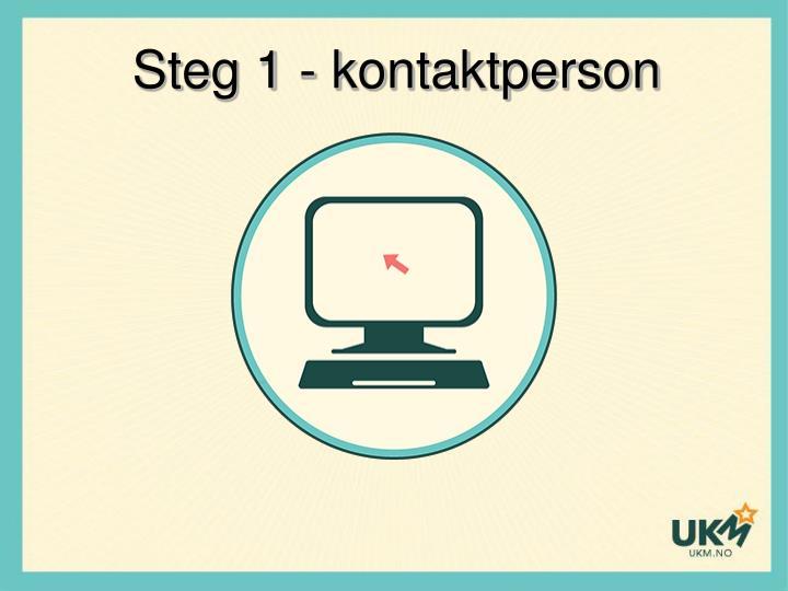 Steg 1 - kontaktperson