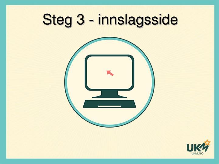 Steg 3 - innslagsside