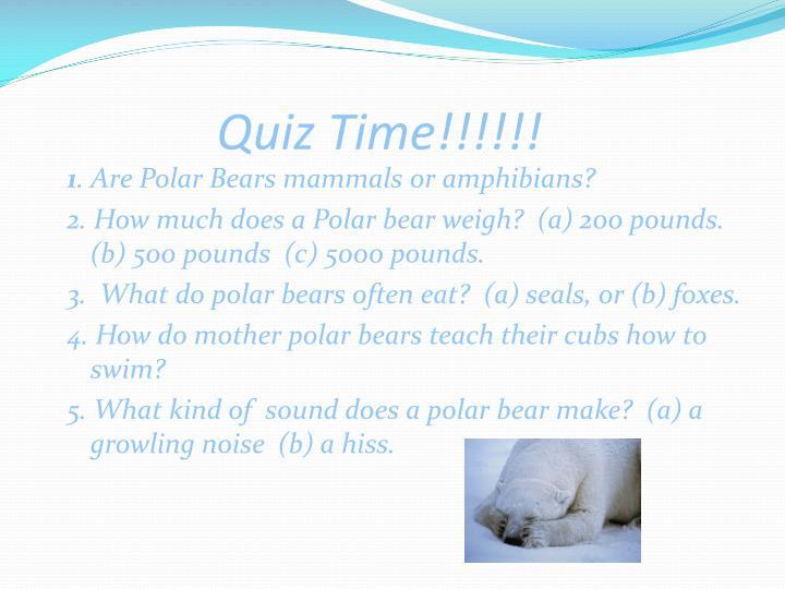 Quiz Time!!!!!!