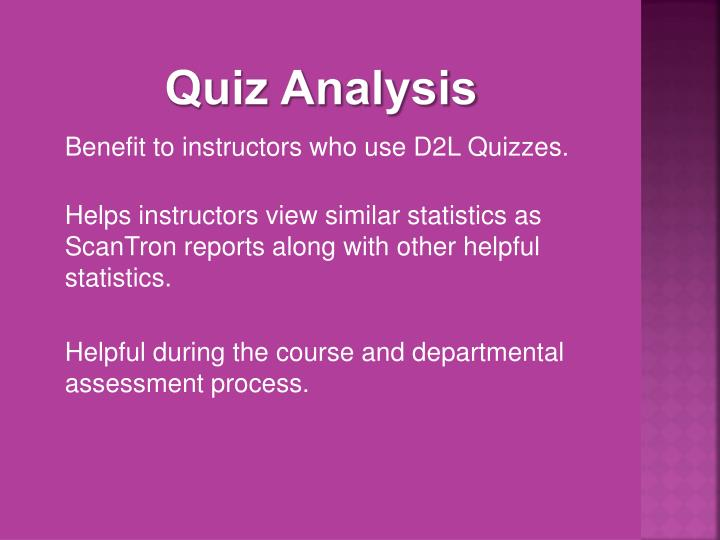 Quiz Analysis