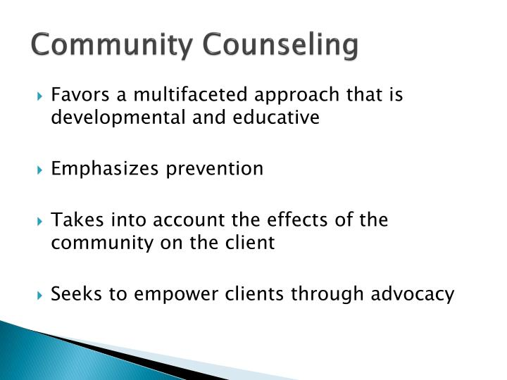 Community counseling