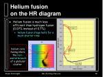 helium fusion on the hr diagram