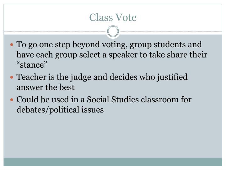 Class Vote
