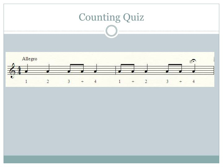 Counting Quiz