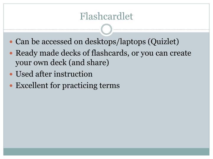 Flashcardlet