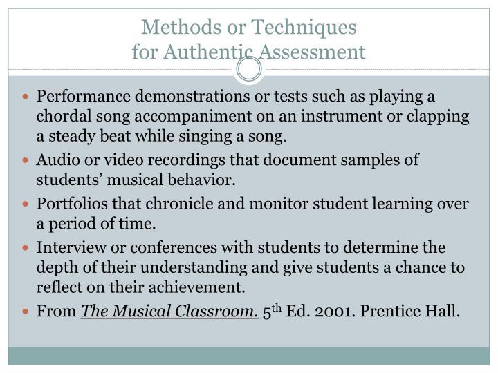 Methods or Techniques