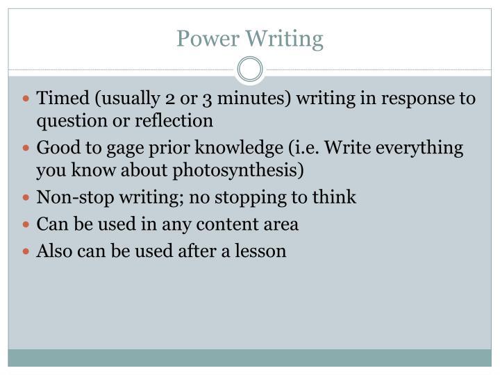 Power Writing