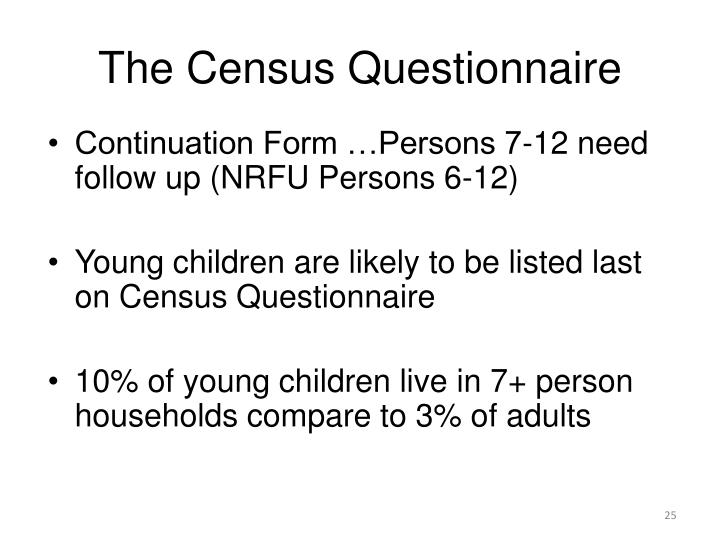 The Census Questionnaire
