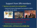 support from sfn members4