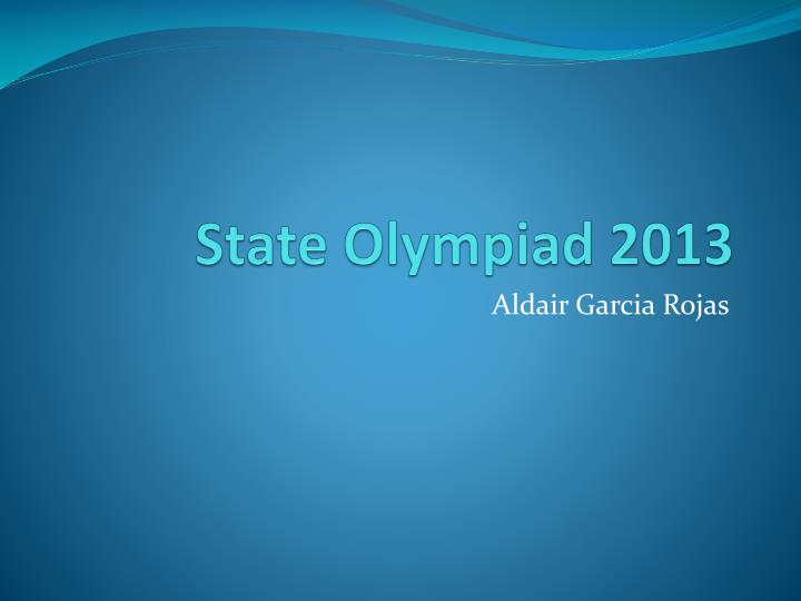 State olympiad 2013