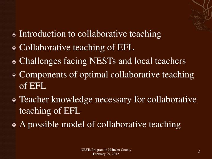 Introduction to collaborative teaching
