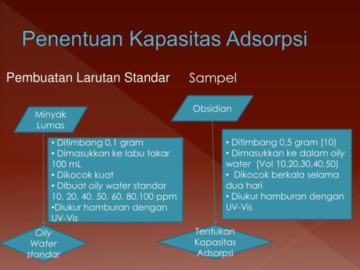 Penentuan Kapasitas Adsorpsi