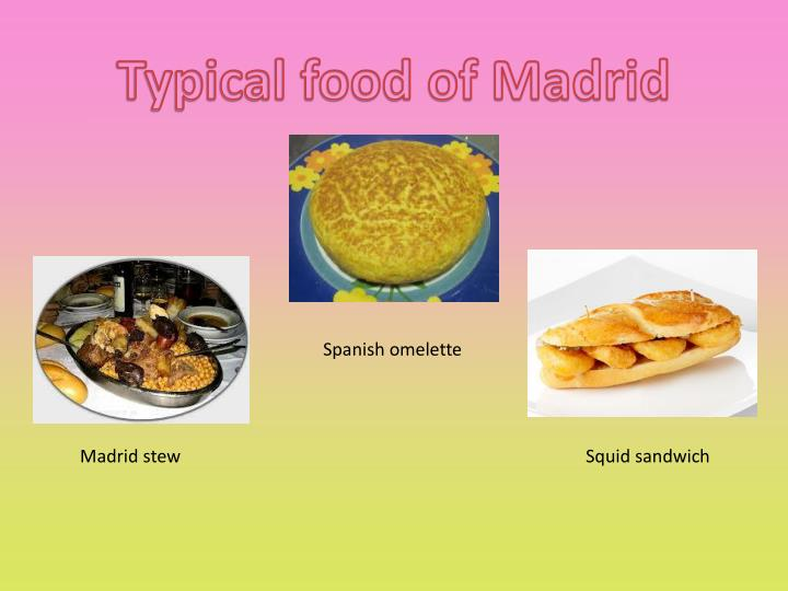 Typical food of Madrid