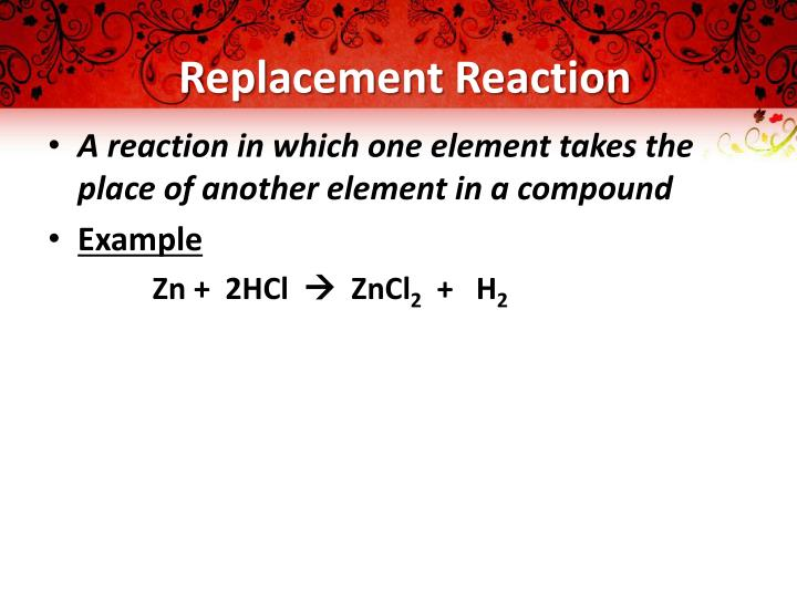 Replacement Reaction