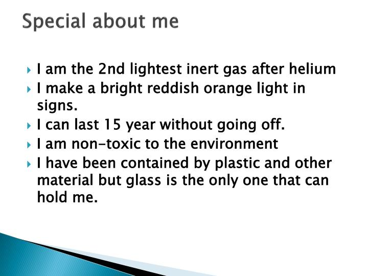 Special about me
