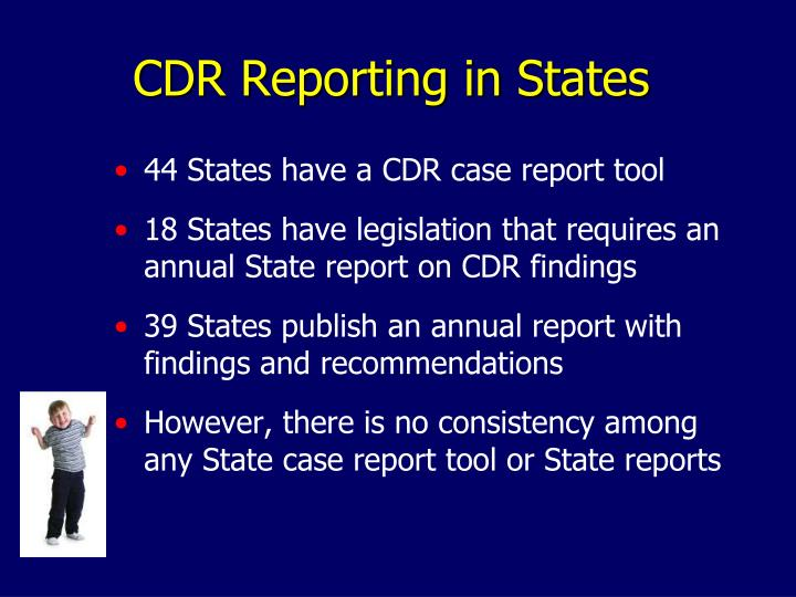 CDR Reporting in States