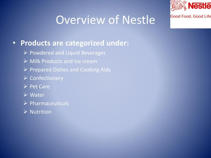 Overview of Nestle