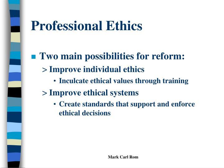 Professional ethics1