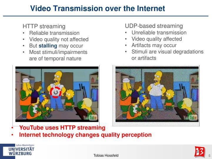 Video Transmission over the Internet