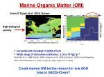 marine organic matter om