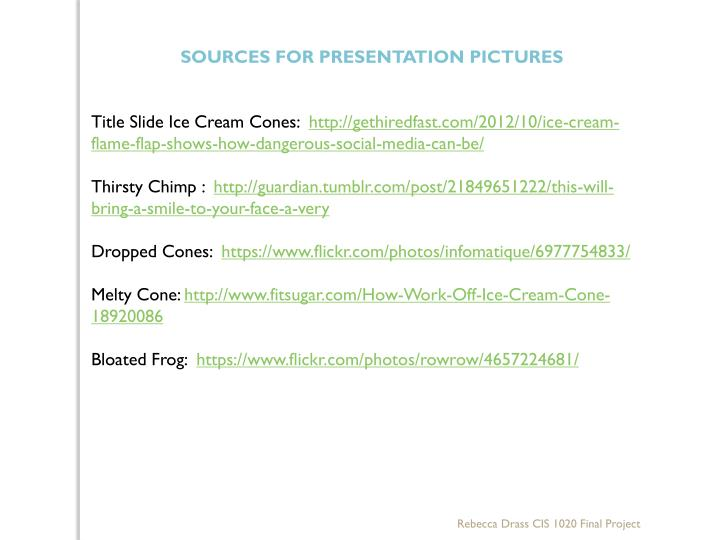 SOURCES FOR PRESENTATION PICTURES