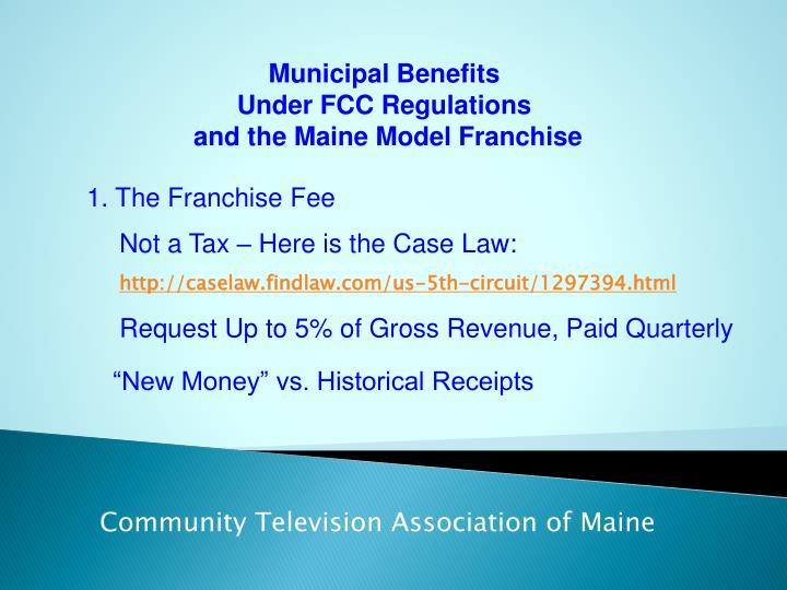 Municipal Benefits