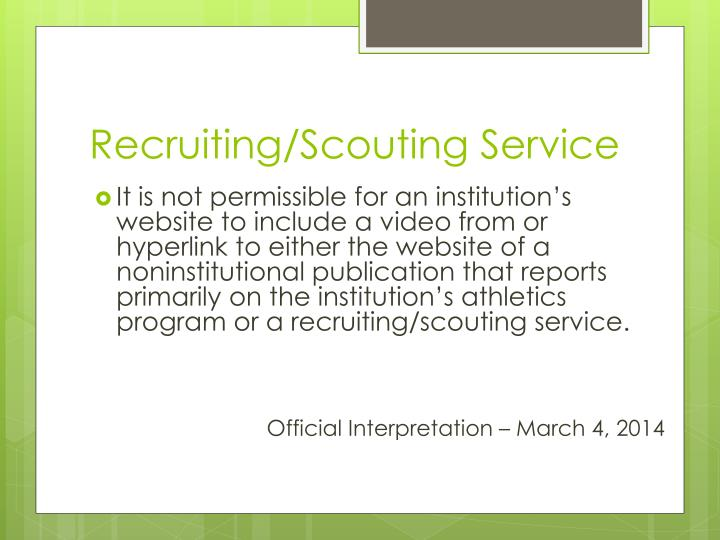 Recruiting/Scouting Service