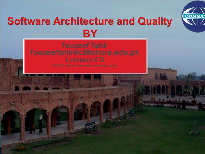 software architecture and quality by n.