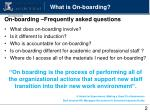 what is on boarding