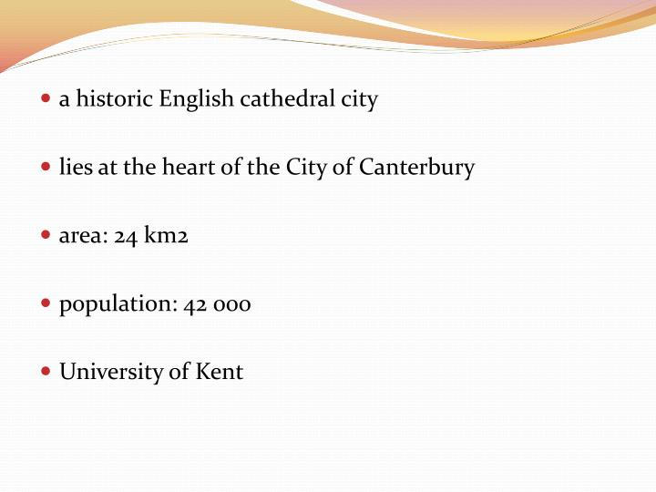 a historic Englishcathedral city