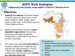 acpc work examples addressing the climate vulnerability of africa s infrastructure