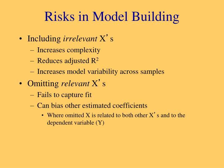 Risks in model building