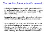 the need for future scientific research1