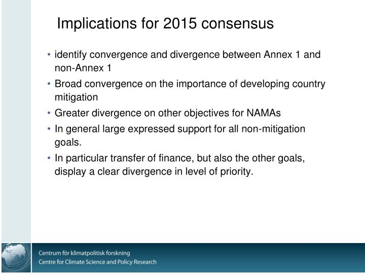 Implications for 2015 consensus