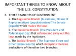 important things to know about the u s constitution1