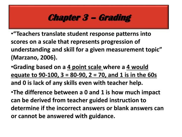Chapter 3 – Grading