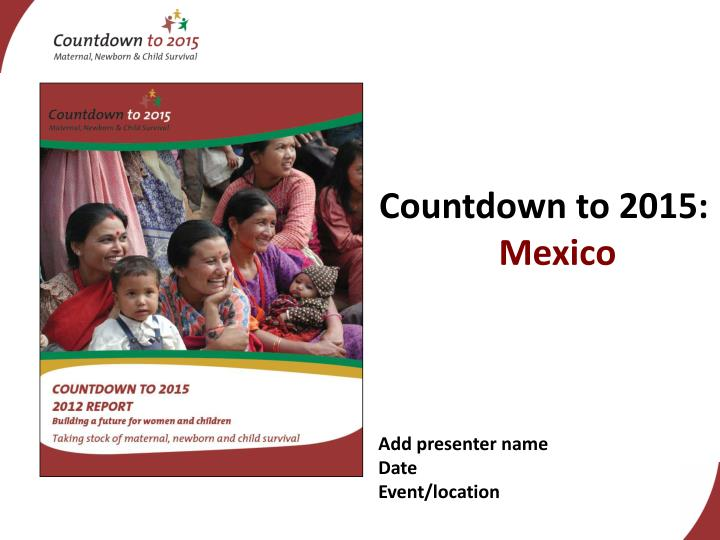 countdown to 2015 mexico
