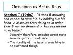 omissions as actus r eus